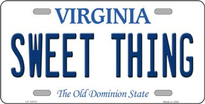 Sweet Thing Virginia Novelty Metal License Plate LP-12513