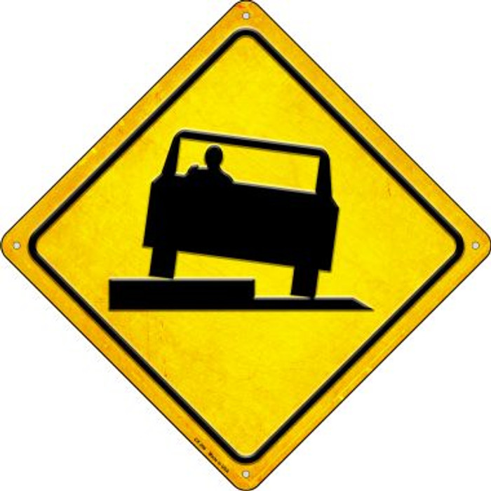 Uneven Pavement Novelty Metal Crossing Sign CX-396