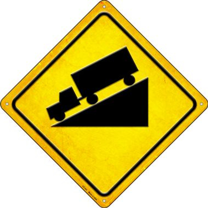 Steep Grade Novelty Metal Crossing Sign CX-441