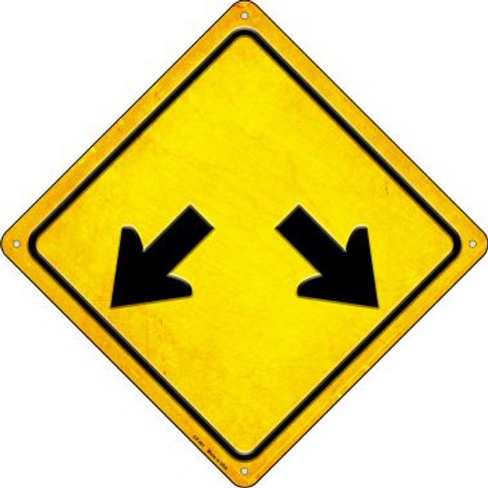 Double Arrow Novelty Metal Crossing Sign CX-461
