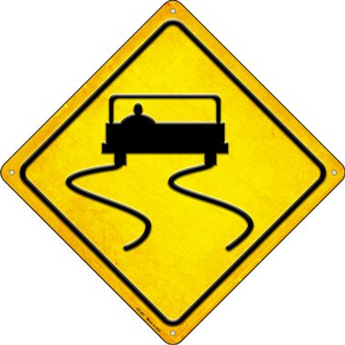 Slippery When Wet Novelty Metal Crossing Sign CX-497
