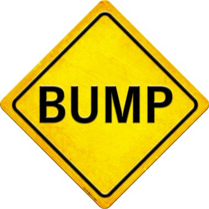 Bump Novelty Metal Crossing Sign CX-572