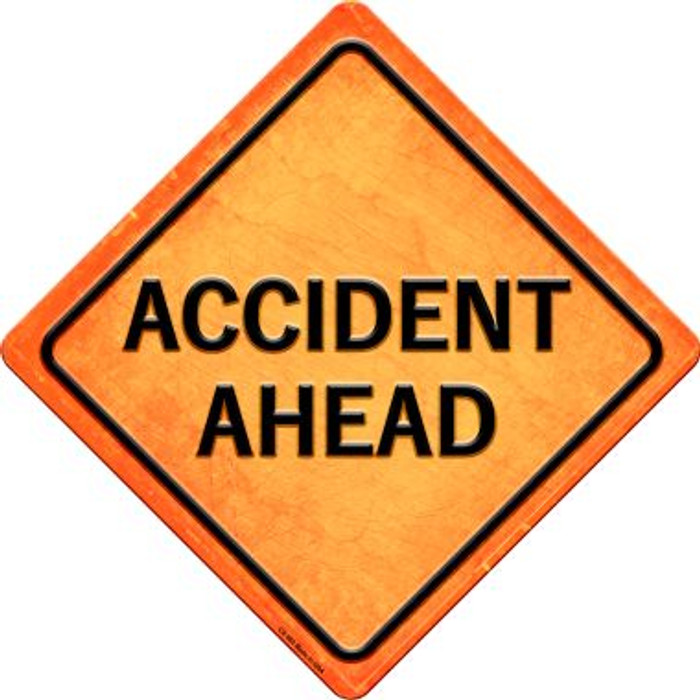 Accident Ahead Novelty Metal Crossing Sign CX-582