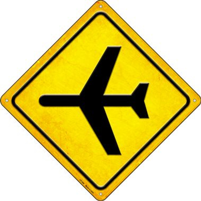 Airplane Novelty Metal Crossing Sign CX-588