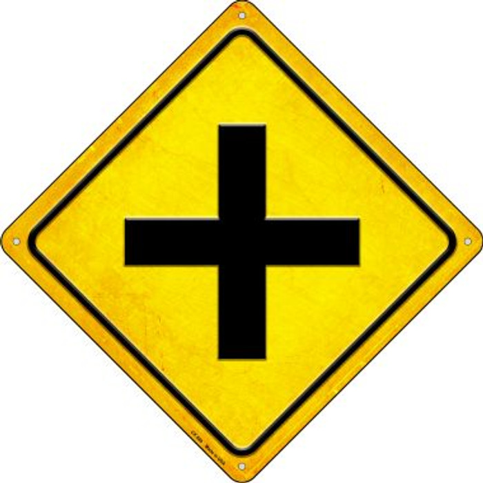 Intersection Novelty Metal Crossing Sign CX-589