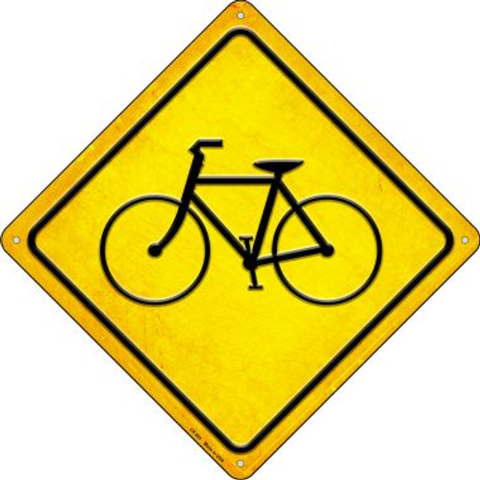 Bicycle Novelty Metal Crossing Sign CX-593