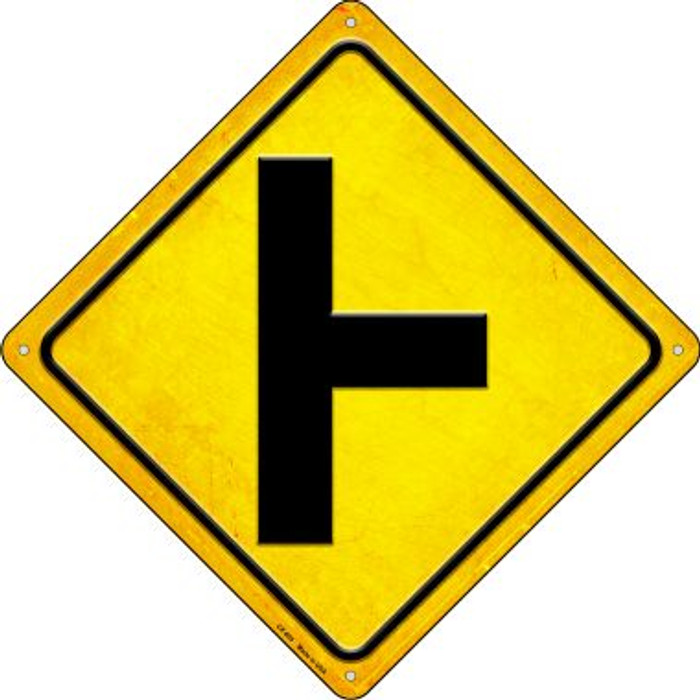 Side Road Right Novelty Metal Crossing Sign CX-605