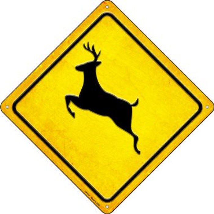 Deer Novelty Metal Crossing Sign CX-612