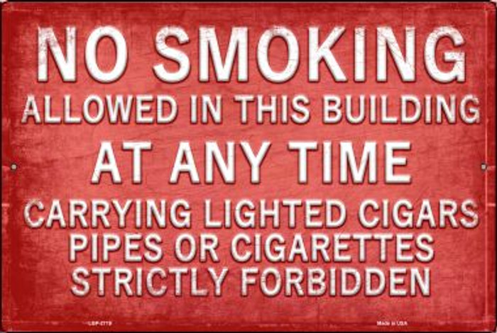 No Smoking Novelty Metal Large Parking Sign LGP-2719