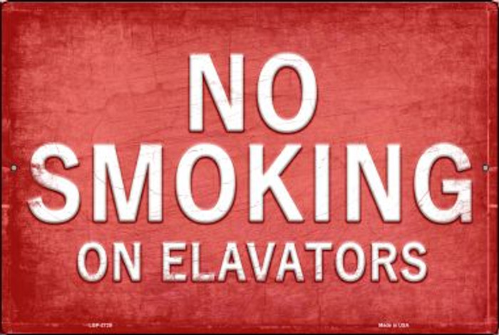 No Smoking Novelty Metal Large Parking Sign LGP-2720