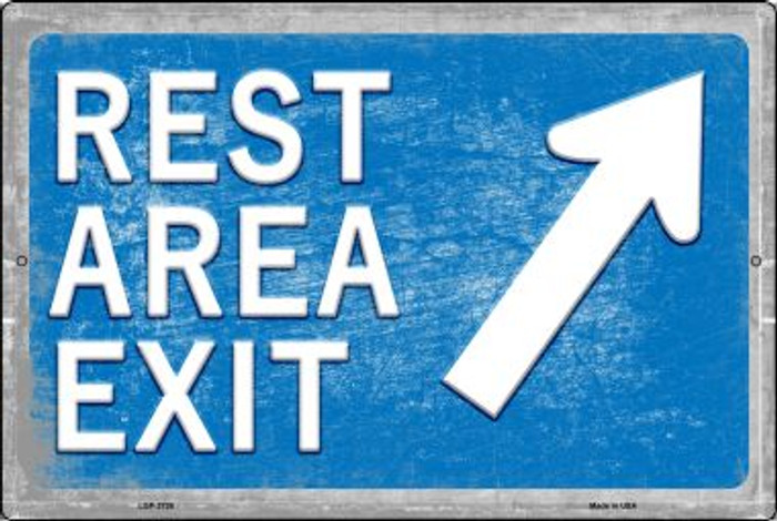 Rest Area Exit Novelty Metal Large Parking Sign LGP-2726