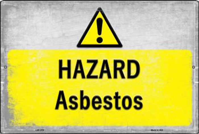 Hazard Asbestos Novelty Metal Large Parking Sign LGP-2751