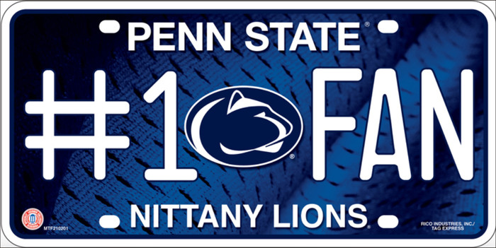 Penn State Fan Metal Novelty License Plate LP-956
