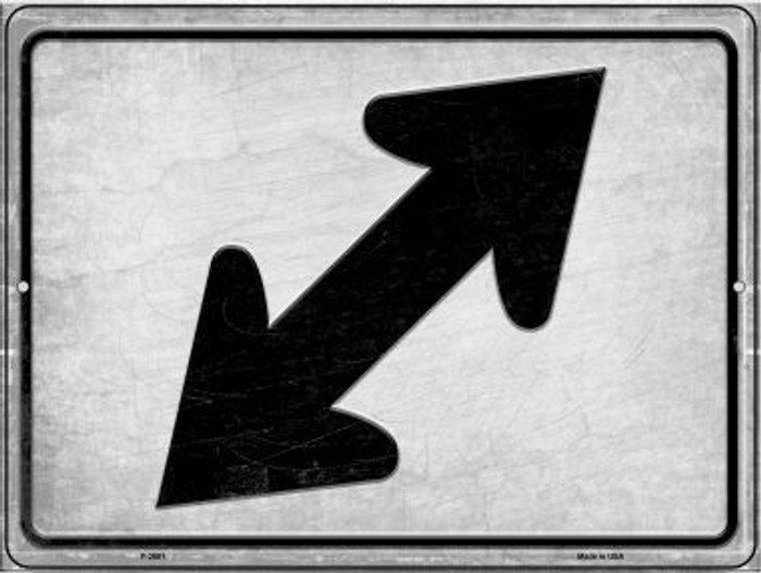 Diagonal Right and Left Novelty Metal Parking Sign P-2681