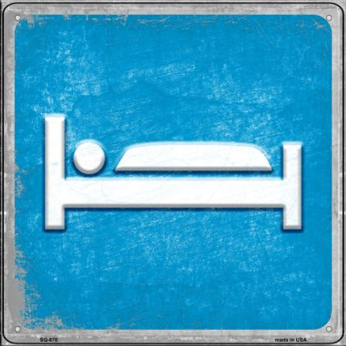 Bed Novelty Metal Square Sign SQ-878