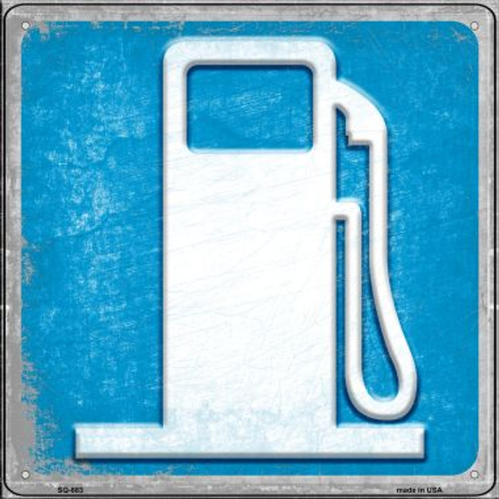 Gas Novelty Metal Square Sign SQ-883