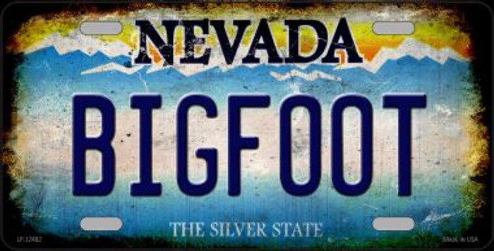 Bigfoot Nevada Novelty Metal License Plate LP-12482