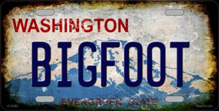 Bigfoot Washington Novelty Metal License Plate LP-12483