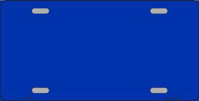 Blue Metallic Solid Background Metal Novelty License Plate