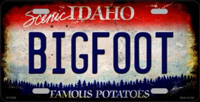 Bigfoot Idaho Novelty Metal License Plate LP-12485