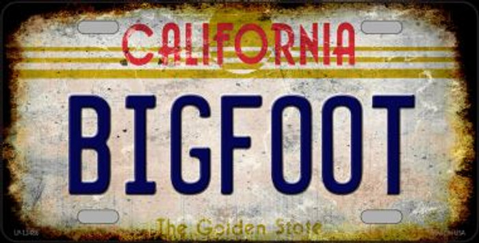 Bigfoot California Novelty Metal License Plate LP-12486