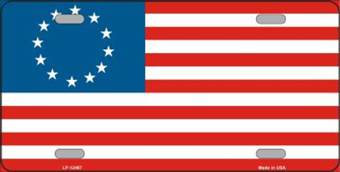 Betsy Ross American Flag Novelty Metal License Plate LP-12487