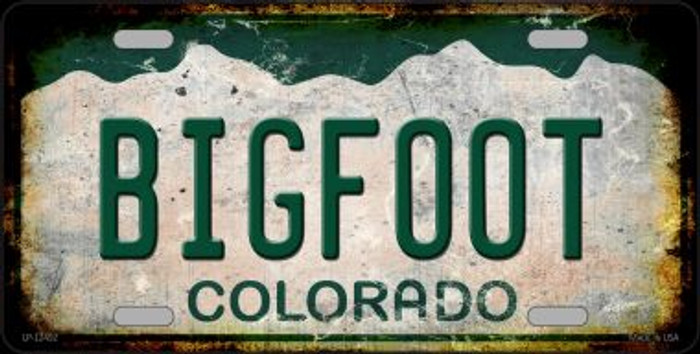 Bigfoot Colorado Novelty Metal License Plate LP-12492