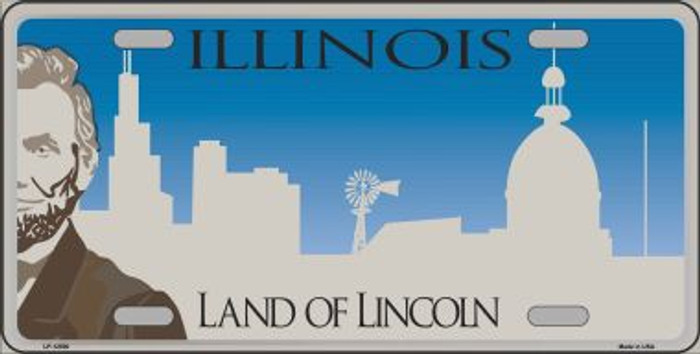 Illinois Blank Novelty Metal License Plate LP-12500