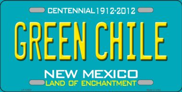 Green Chile New Mexico Green Novelty Metal License Plate LP-12502