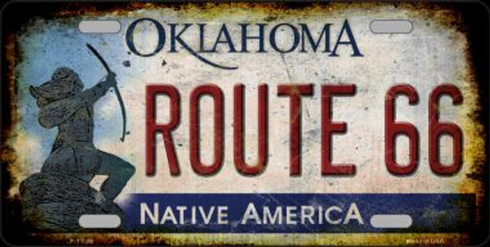 Route 66 Oklahoma Novelty Metal License Plate LP-12509