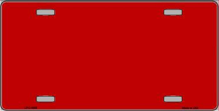 Red Metallic Solid Background Metal Novelty License Plate