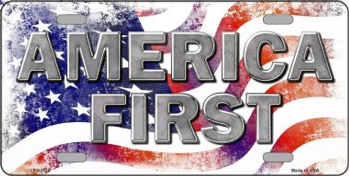 America First Novelty Metal License Plate LP-12520