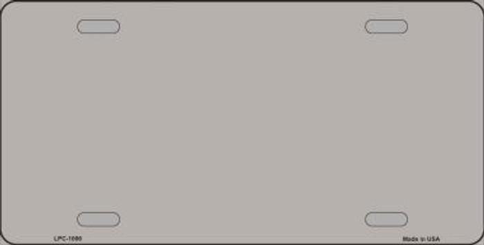 Grey Metallic Solid Background Metal Novelty License Plate