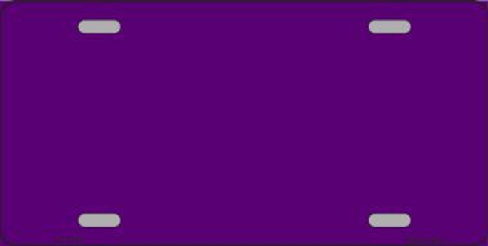 Purple Metallic Solid Background Metal Novelty License Plate