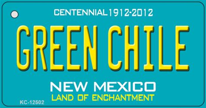 Green Chile New Mexico Green Novelty Metal Key Chain KC-12502