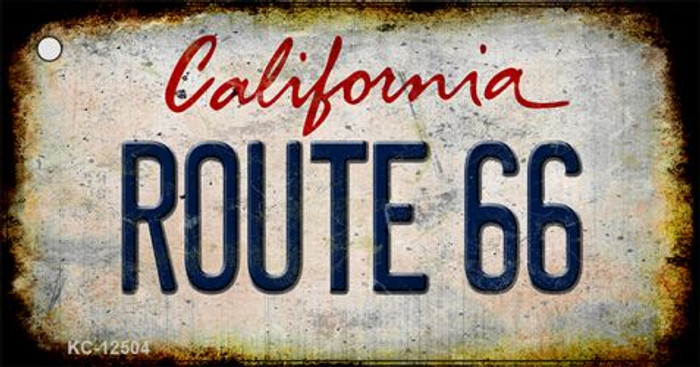 Route 66 California Novelty Metal Key Chain KC-12504