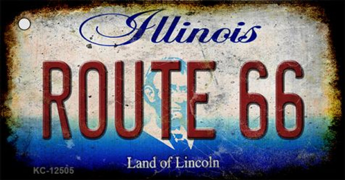 Route 66 Illinois Novelty Metal Key Chain KC-12505