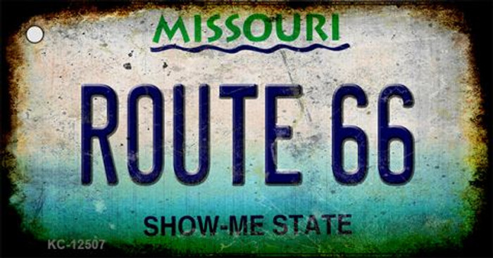 Route 66 Missouri Novelty Metal Key Chain KC-12507