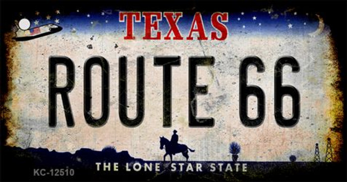 Route 66 Texas Novelty Metal Key Chain KC-12510
