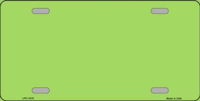Lime Green Metallic Solid Background Metal Novelty License Plate