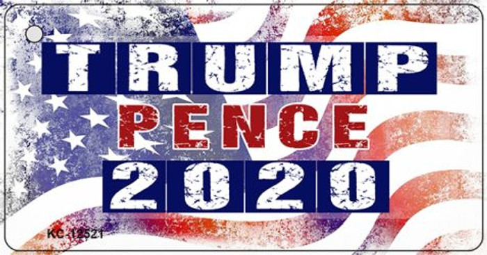 Trump and Pence 2020 Novelty Metal Key Chain KC-12521