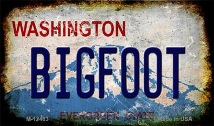 Bigfoot Washington Novelty Metal Magnet M-12483