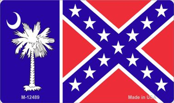South Carolina Confederate Flag Novelty Metal Magnet M-12489