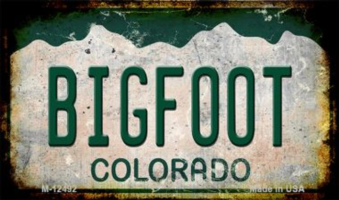 Bigfoot Colorado Novelty Metal Magnet M-12492