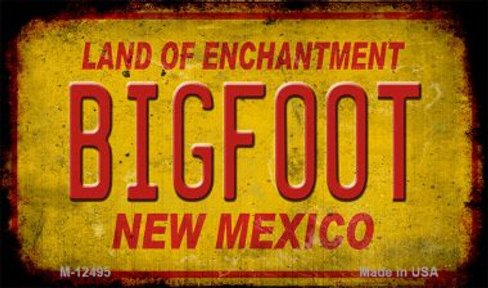 Bigfoot New Mexico Novelty Metal Magnet M-12495