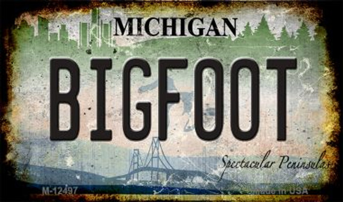 Bigfoot Michigan Novelty Metal Magnet M-12497
