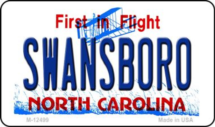 Swansboro North Carolina Novelty Metal Magnet M-12499