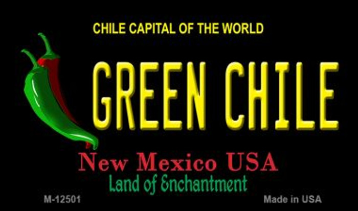 Green Chile New Mexico Black Novelty Metal Magnet M-12501