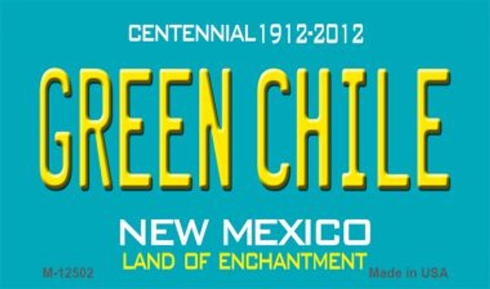 Green Chile New Mexico Green Novelty Metal Magnet M-12502