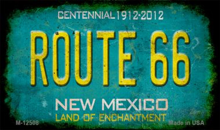 Route 66 New Mexico Novelty Metal Magnet M-12508